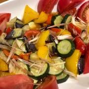 さっぱりとね!夏野菜の素揚げポン酢合え♪の写真