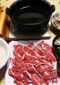 しし肉(猪肉)ですき焼き♪