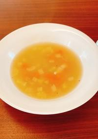 ロティサリーチキンの鶏がら野菜スープ