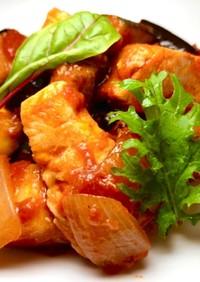 鶏と夏野菜のトマト煮込み