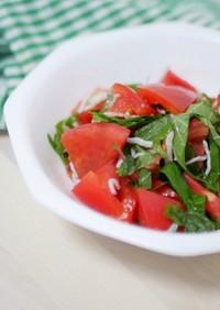 しらすとトマトのサラダ