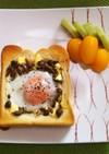 【朝食に最適♪】きのこと卵のトースト