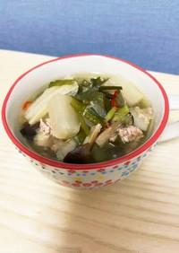 《圧力鍋》 野菜たっぷり豚ニラスープ