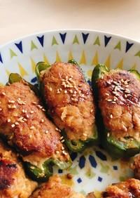 栄養まるごとピーマンの肉詰め〜甘辛タレ〜