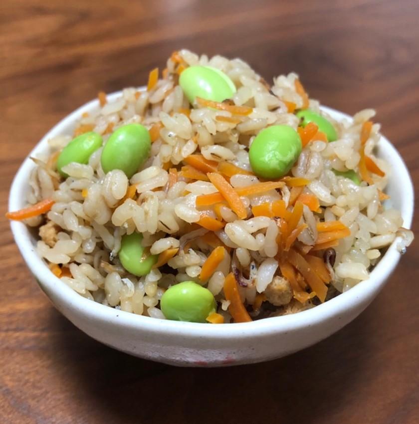 【ズボラ】雑魚と枝豆の炊き込みご飯