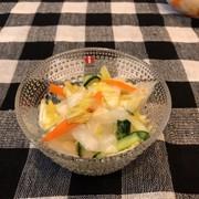 簡単 白菜の昆布茶漬けの写真