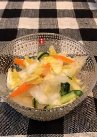 簡単 白菜の昆布茶漬け