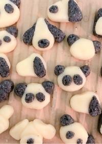 お豆腐でパンダ&スヌーピーの白玉団子