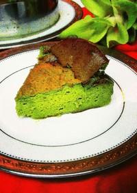簡単‼美味しい抹茶バスク風チーズケーキ♪