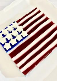 独立記念日に3色のゼリーケーキ♪
