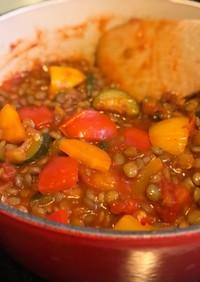 レンズ豆のラタトゥイユ