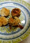 ❄椎茸の肉詰め&ジャガイモの味噌汁❄