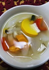 夏野菜の生姜スープ