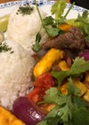 ペルーで食べたロモサルタードを再現