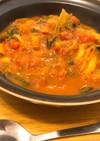 かぼちゃとトマトのスープ