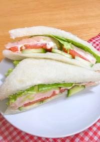 激うま&簡単★サラダチキンのサンドイッチ