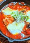 ミートボールのトマトソースチーズ焼き