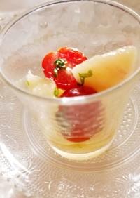 薬膳ミントと桃の簡単サラダ