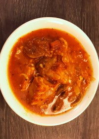 高野豆腐トマトソース煮込み