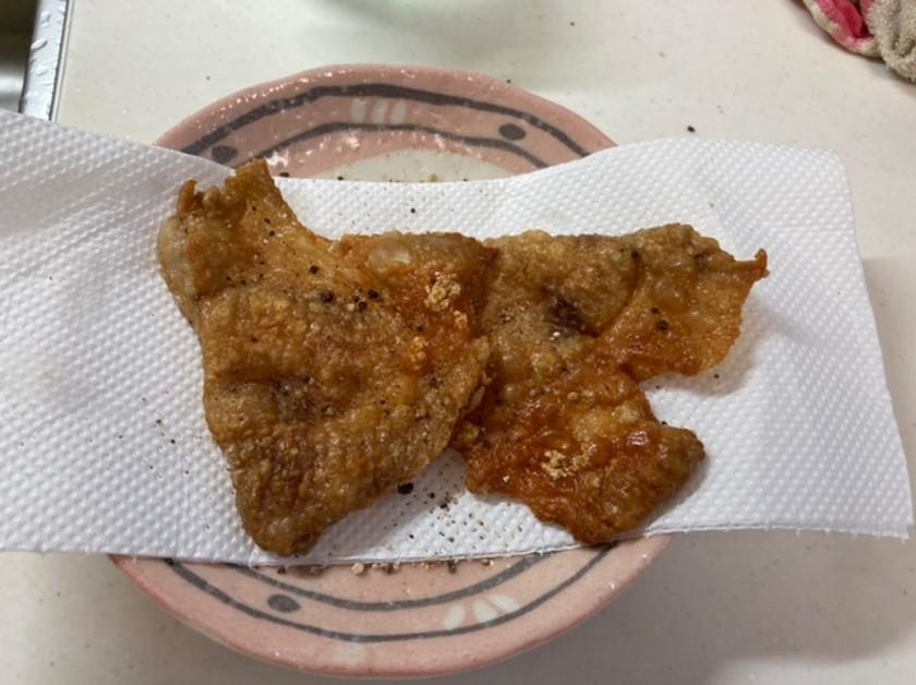 おつまみ ただ焼くだけ鶏皮煎餅(もも肉)