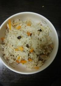 牛蒡茶で作るツナの炊き込みご飯