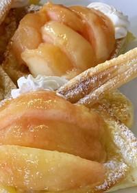 簡単!桃のオープンパイ