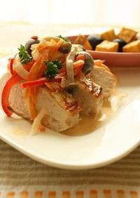 彩り野菜と♬クリーム☆グリル・チキン