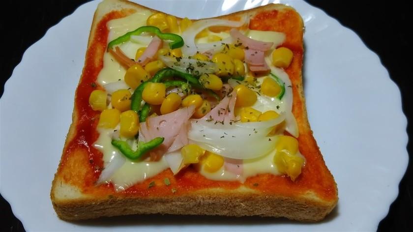 かんたんコーン・ピザトースト