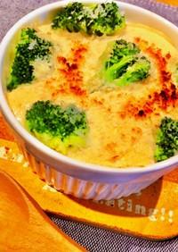 サラダチキンと豆腐ソースのグラタン♡