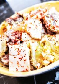豚バラキャベツの卵とじ丼