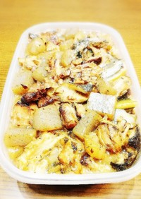 作り置き マグロのアラとコンニャク煮物