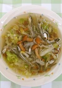 おいしく減塩 煮干しと切干し大根のスープ