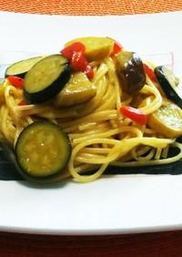 【夏野菜たっぷり♪】カルボナーラ