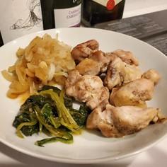 手抜きダイエット食 チキンの白ワイン煮込