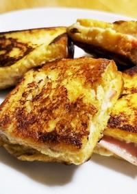 フレンチトースト(ハムandチーズ)