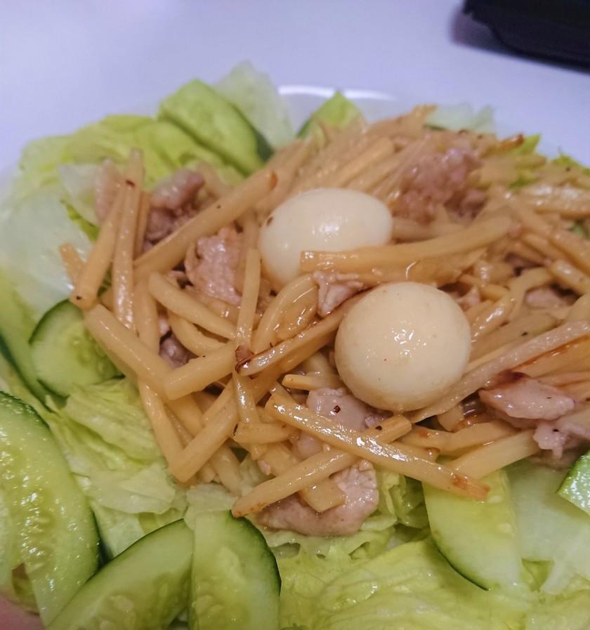 ★細切り筍水煮と豚肉の簡単中華炒め