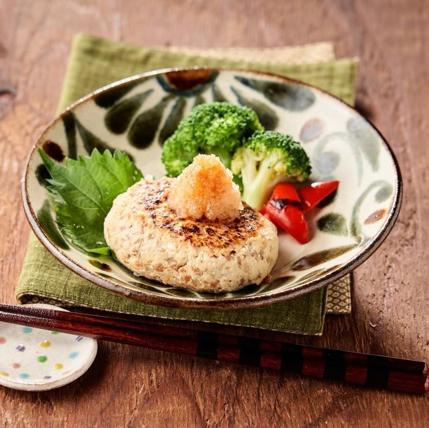 簡単ヘルシー☆大豆ミートの豆腐ハンバーグ