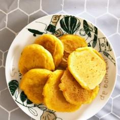 にんじんとかぼちゃの米粉パンケーキ