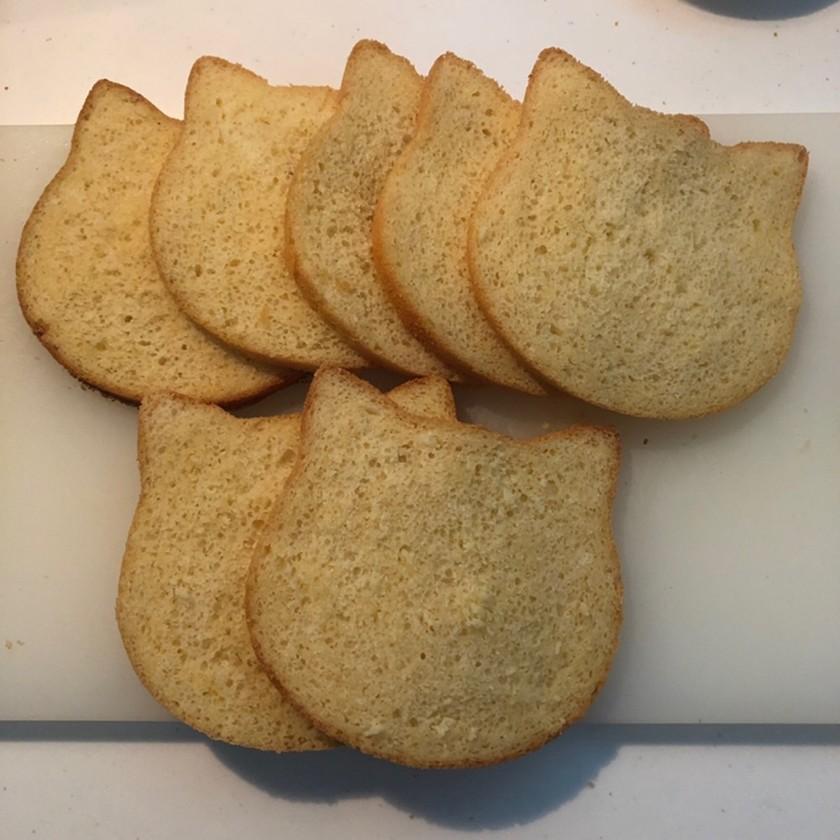 ネコパン1斤型で作る「ねこ形食パン」