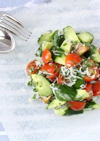 「塩麹」を使ったトマトとしらすのサラダ