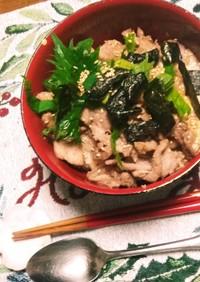 夏⛅のスタミナ満点❗とろろ芋の肉丼☺⛄☕