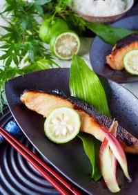 特売の鮭を旨味アップ☆鮭の柚子しょうゆ