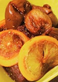イチジクとオレンジの赤ワインコンポート