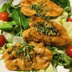 鶏ささみのひらき●蒲焼き風サラダ