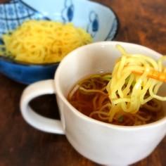 夏はコレ!シンプルな麺つゆラーメン