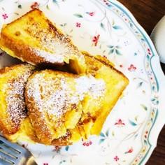 食パンちぎって簡単フレンチトースト