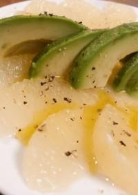 グレープフルーツと、アボカドのサラダ