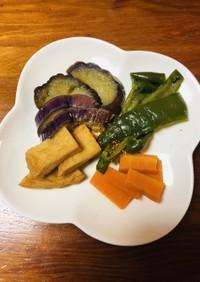 夏野菜とさつま揚げの煮浸し