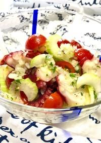 蛸とトマト・セロリ・玉ねぎのマリネサラダ