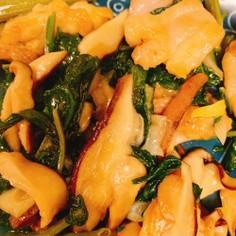 空芯菜と鶏肉の炒め物